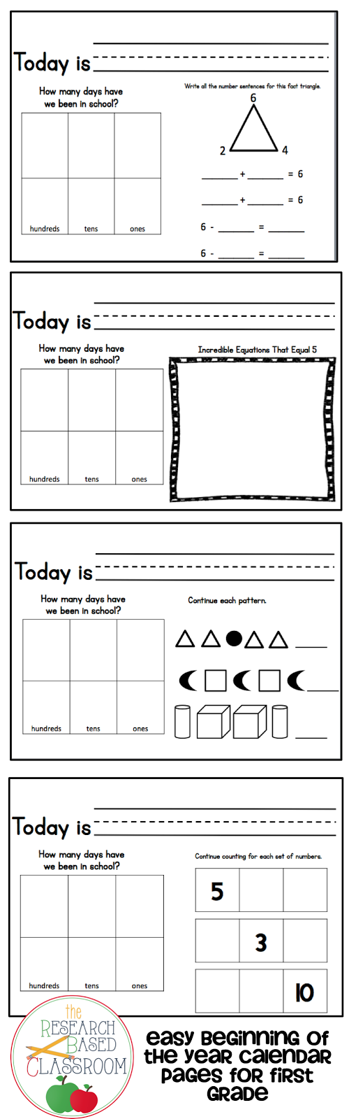 Calendar Math Printables Third Grade : Daily calendar math worksheets best program for solving
