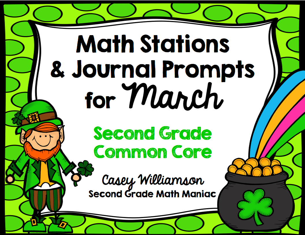 http://www.teacherspayteachers.com/Product/Math-Stations-and-Journal-Prompts-for-March-Second-Grade-Common-Core-1135974