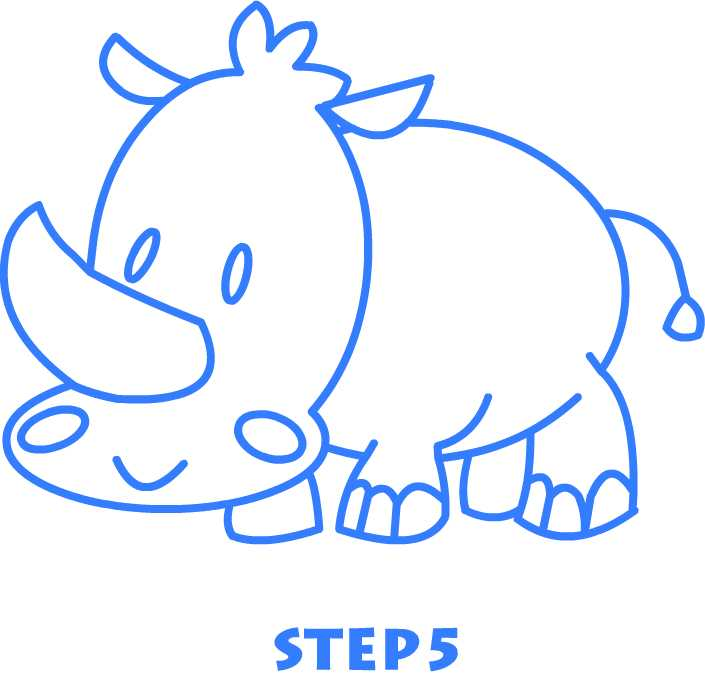 Rhinoceros drawing for kids - photo#22