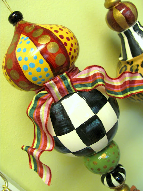 large finial painted ornament