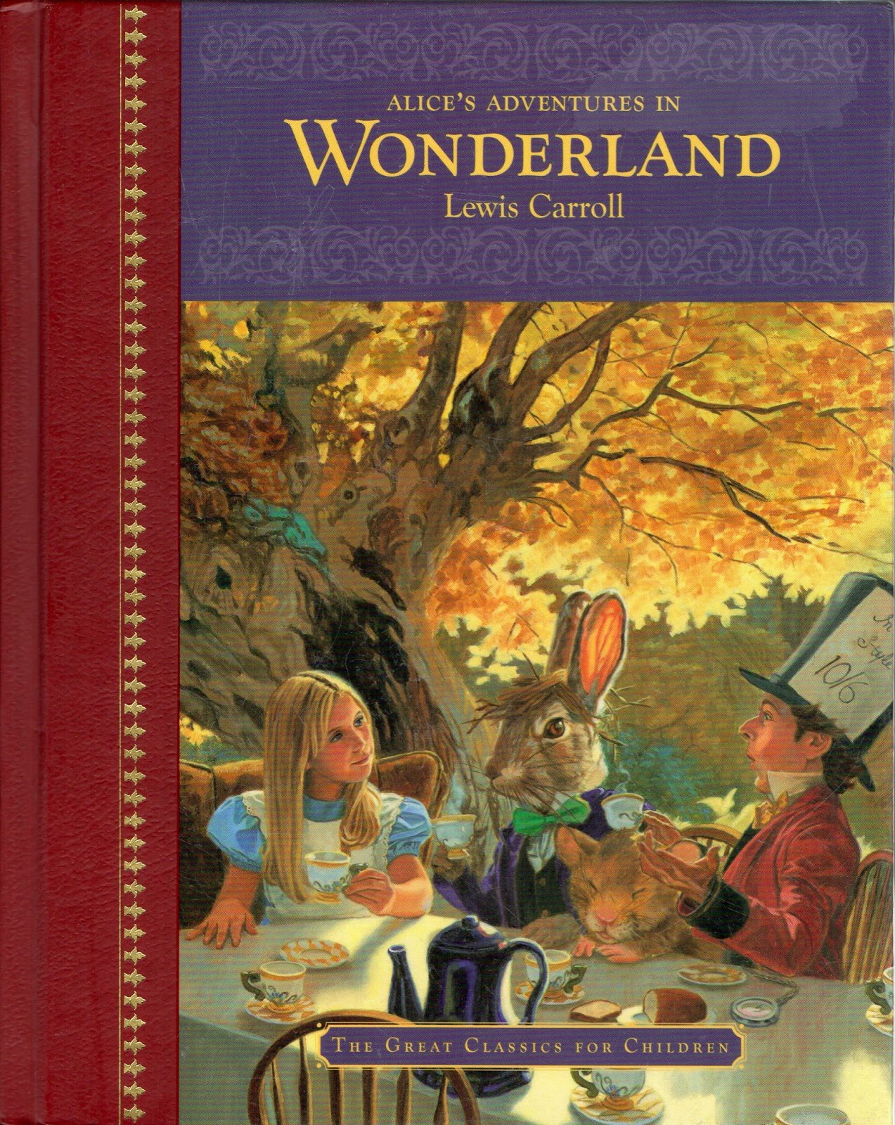 an analysis of carroll lewis childhood in adventures of alice in wonderland Alice's adventures in wonderland (commonly shortened to alice in wonderland) is an 1865 novel written by english author charles lutwidge dodgson over the pseudonym lewis carroll it tells of a girl named alice falling through a rabbit hole into a fantasy world populated by peculiar, anthropomorphic creatures.