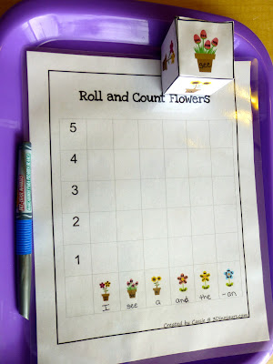 Roll and Count Flowers