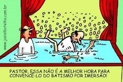 Batismo na marra...