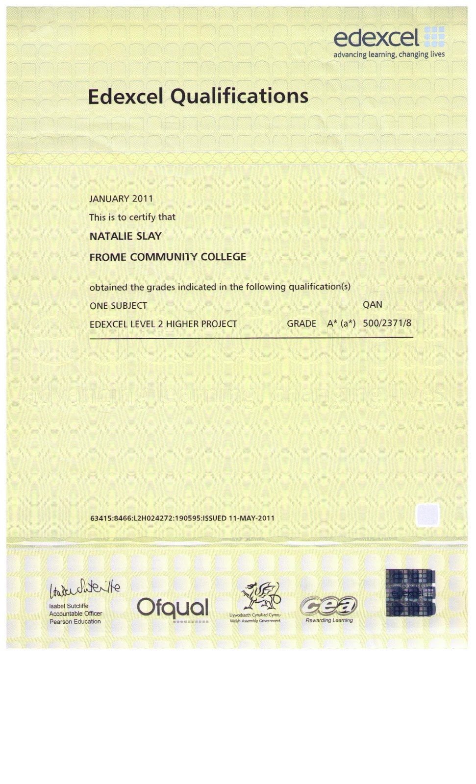 Cv template gcse platinum class limousine for Gcse certificate template