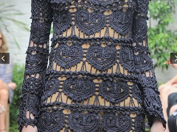 вязание крючком, Ванесса монторо, платье, платье ажурное,