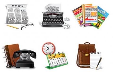 Iconos comunicación retro