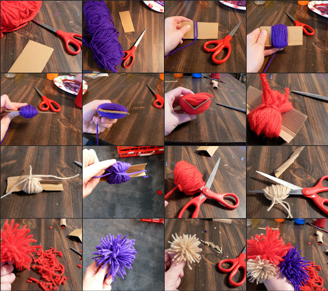 how to make pompoms from yarn