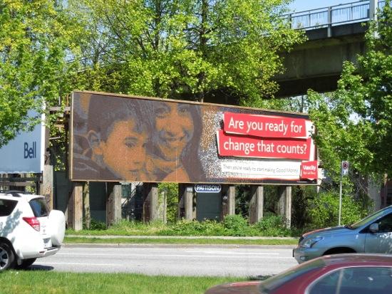 Vancity mosaic penny billboard