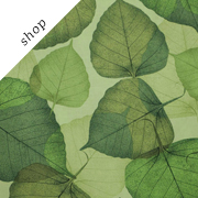 Green on Green Flora Leaf Print Fabric | fabricsandtrimmings