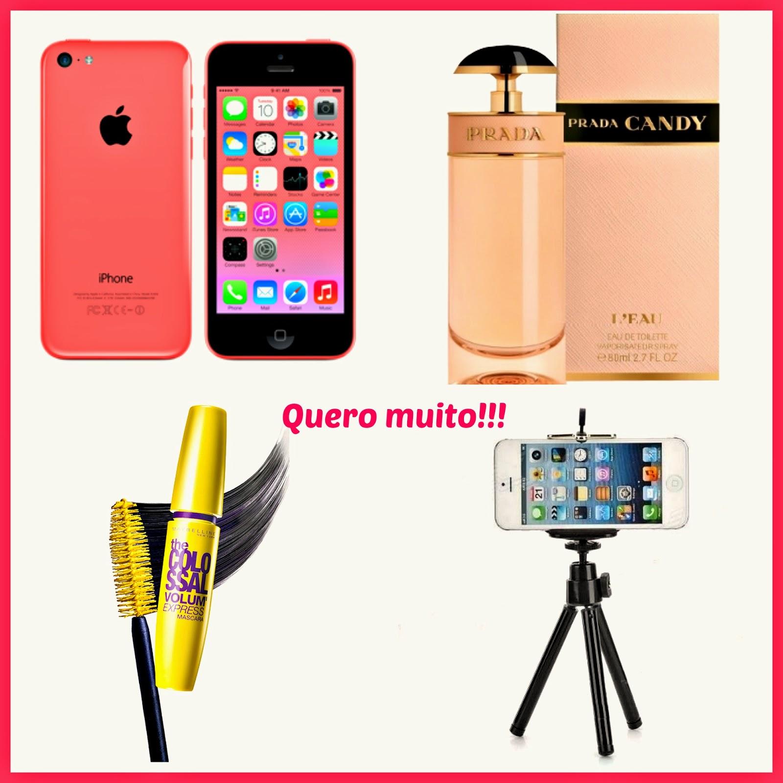 Iphone 5c, Prada Candy, The Colossal, Mini Tripé para Celular