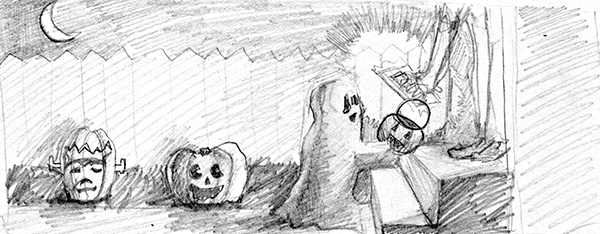 Trick-or-Treat Rough Concept Sketch