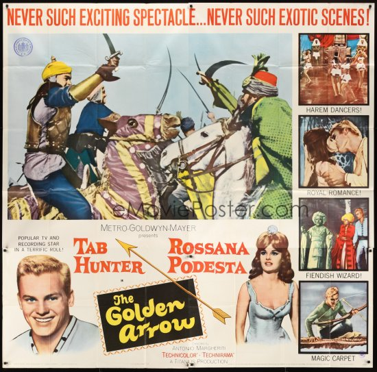 """L'arciere delle mille e una notte"" (1962) ""THE GOLDEN ARROW"""