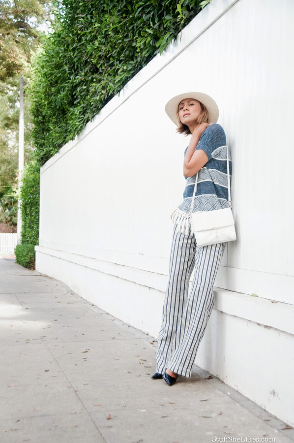 Stripes, Michael Stars, Zara, best Fashion Blogger, Top ten Fashion bloggers, Blonde hair, Short hair cut, fashion blogger, Los Angeles fashion blogger,
