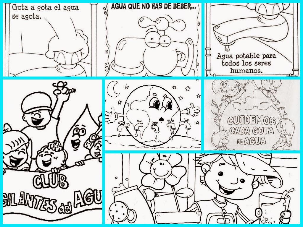 Dibujos listos para imprimir del Día mundial del Agua | aLeXduv3