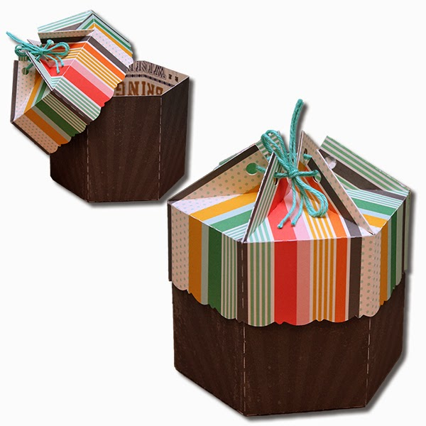 Decorative Boxes With Lids For Paper : Bits of paper multi sided gift boxes with lids