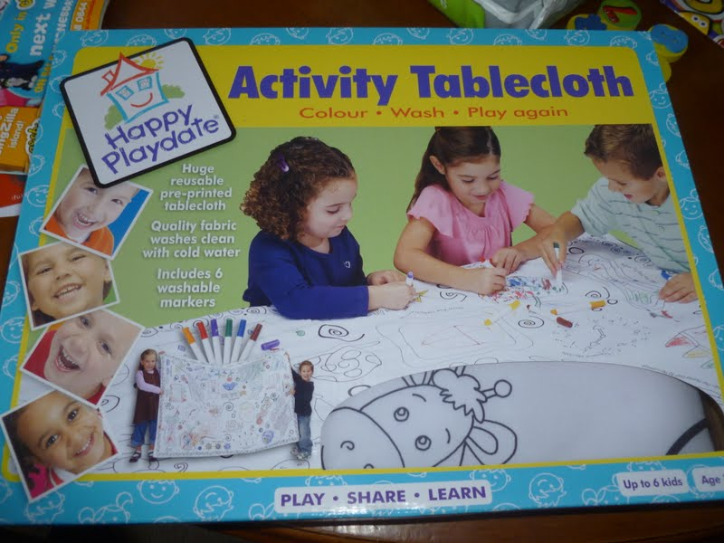 Madhouse Family Reviews Letterbox Activity Tablecloth Review