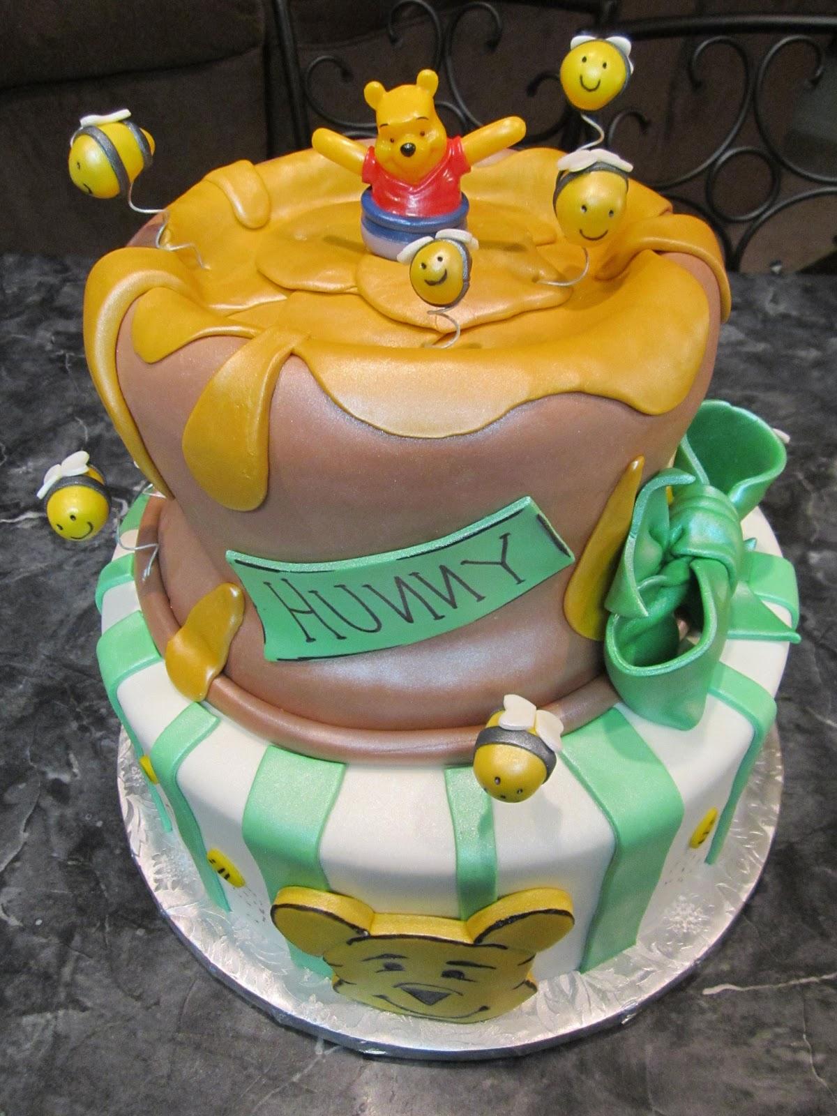 Mymonicakes Winnie The Pooh Honeypot Cake With Bee Hive