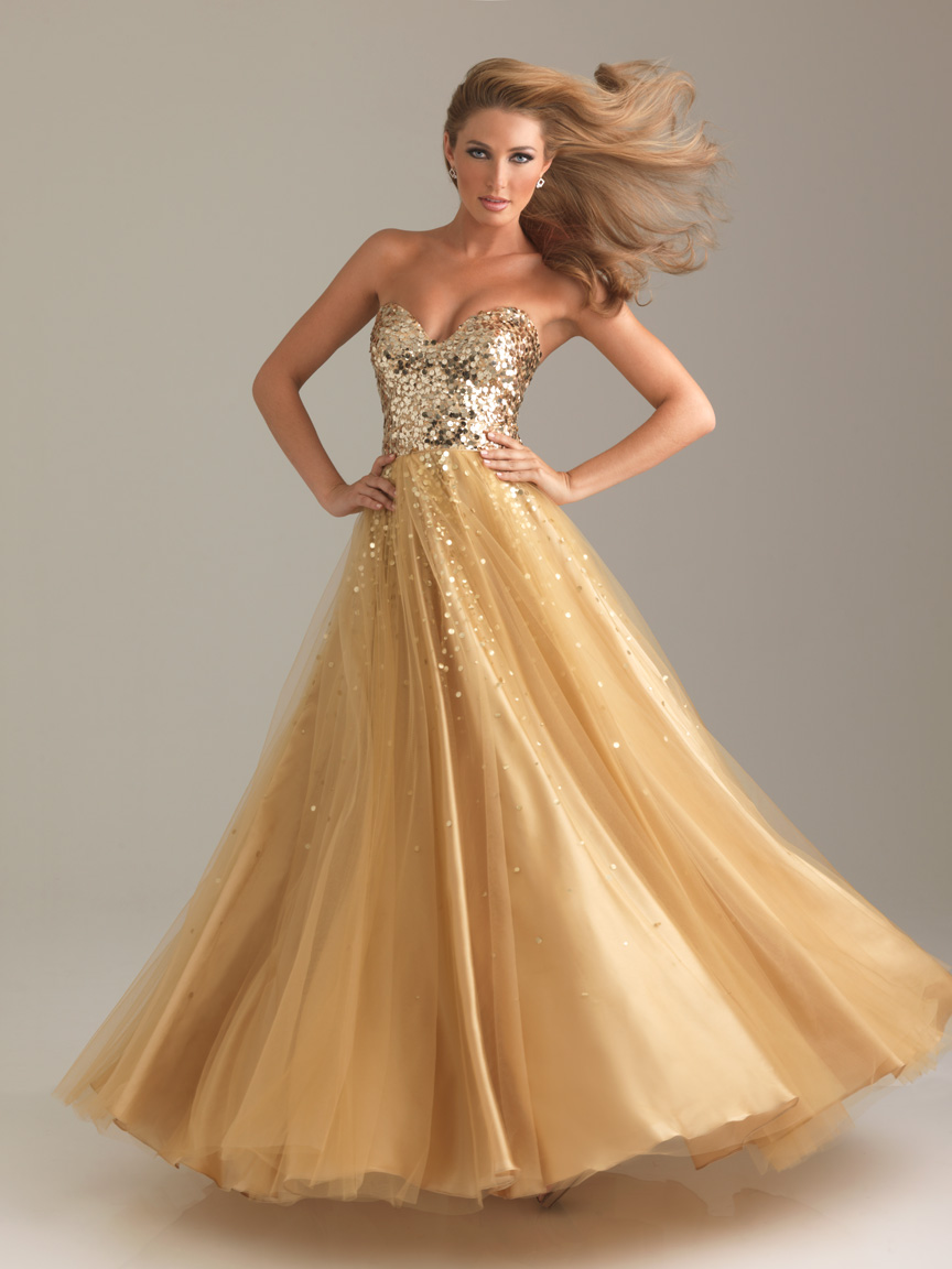 Prom Fashion @ Prom Dress Shop: Gorgeous & Glamorous in GOLD!