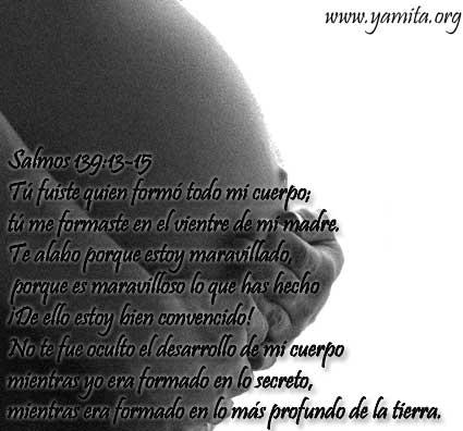 Tarjeta para Embarazada – Tú fuiste quien formó todo mi cuerpo ...