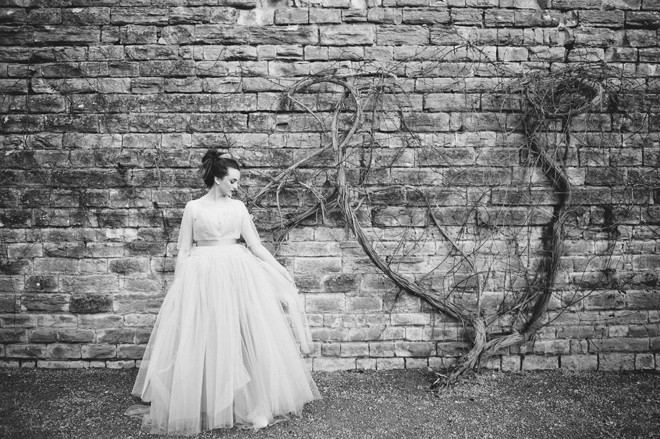 Alexandra King Dove tulle dress
