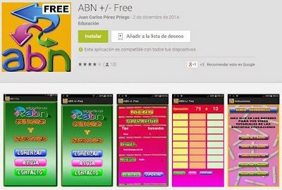 App ABN para la suma y la resta.