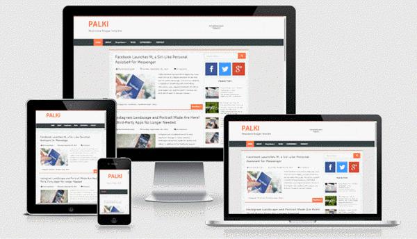 Palki Responsive Blogger template