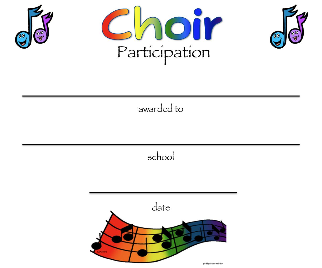chorus certificates awards technologi information With choir certificate template