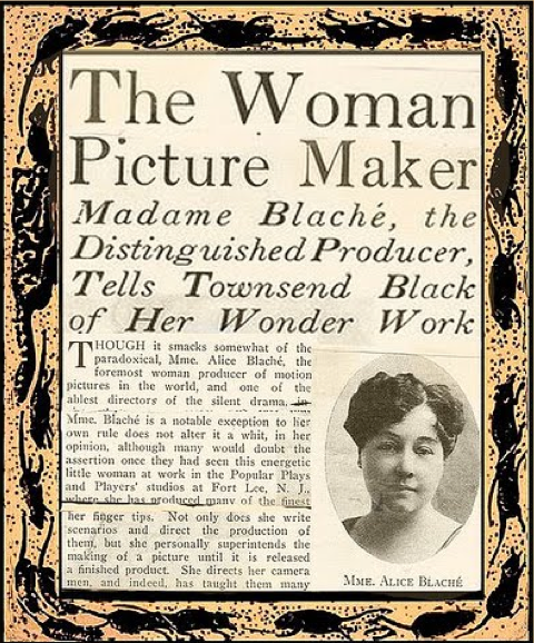 WOMAN IN MOTION ALICE GUY BLACHÉ SINCE 1896