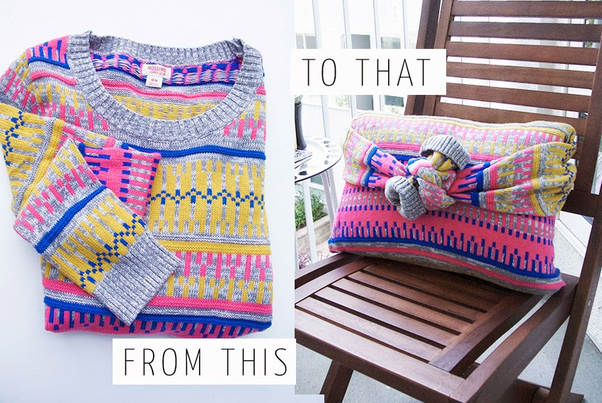5 Minute DIY: No-Sew Sweater Pillow