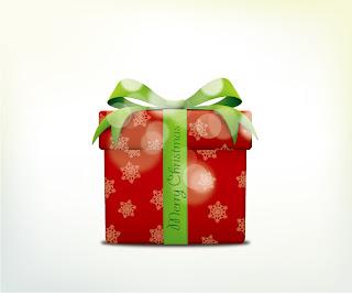 淡い光が当たるクリスマスプレゼントのアイコン christmas gift box icons イラスト素材