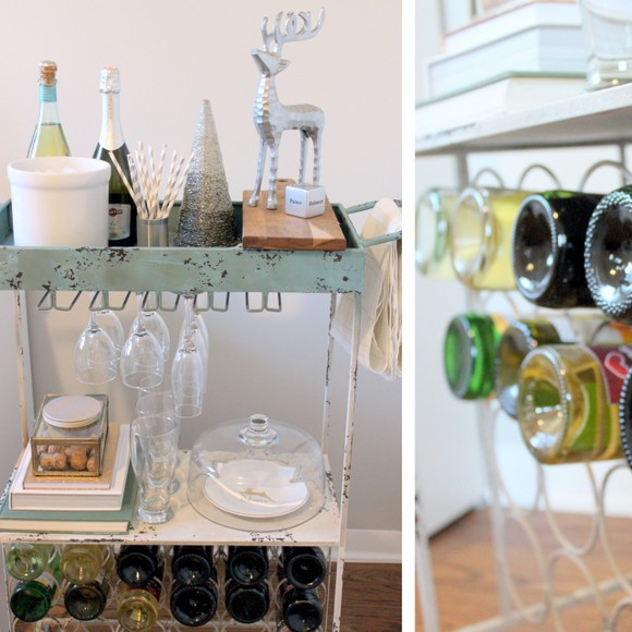 Metallic Bar Cart