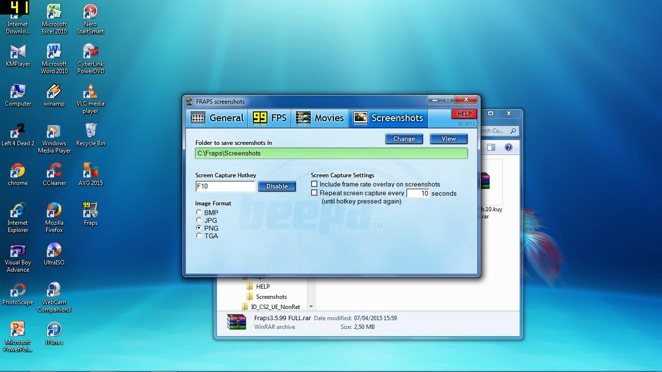 Download aplikasi screenshots PC mudah(Fraps new Version full)