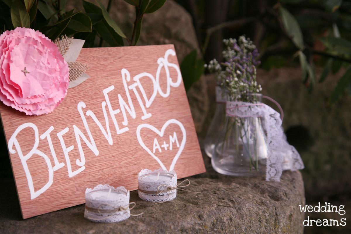 Carteles y pizarras de bienvenida para tu boda blog de - Detalles de bienvenida ...