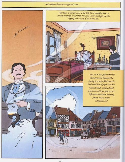 Por el camino de Swann, primera parte de la adaptación de la Recherche al cómic hecha por el ilustrador Stéphane Heuet