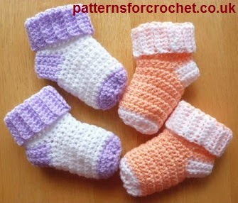 Free Crochet Pattern For Small Dog Booties : My Hobby Is Crochet: 10 Free Slippers/Booties Crochet ...