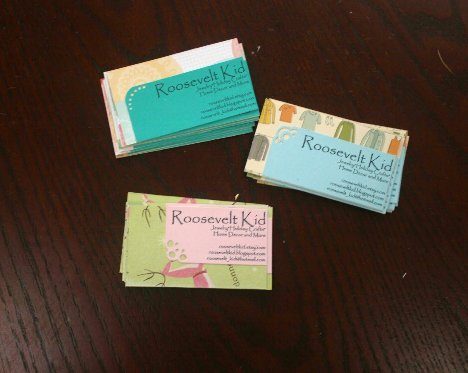 Roosevelt kid diy business cards reheart Gallery