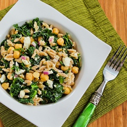 ... for Whole Wheat Orzo Salad with Kale, Chickpeas, Lemon, and Feta