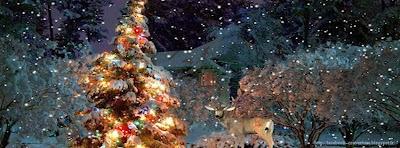 Image de couverture facebook sapin de Noël