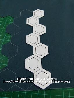 MI TUTORIAL: Plantillas de Corte de hexágonos y Corte de la tela