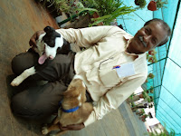 Arun playing with his pets