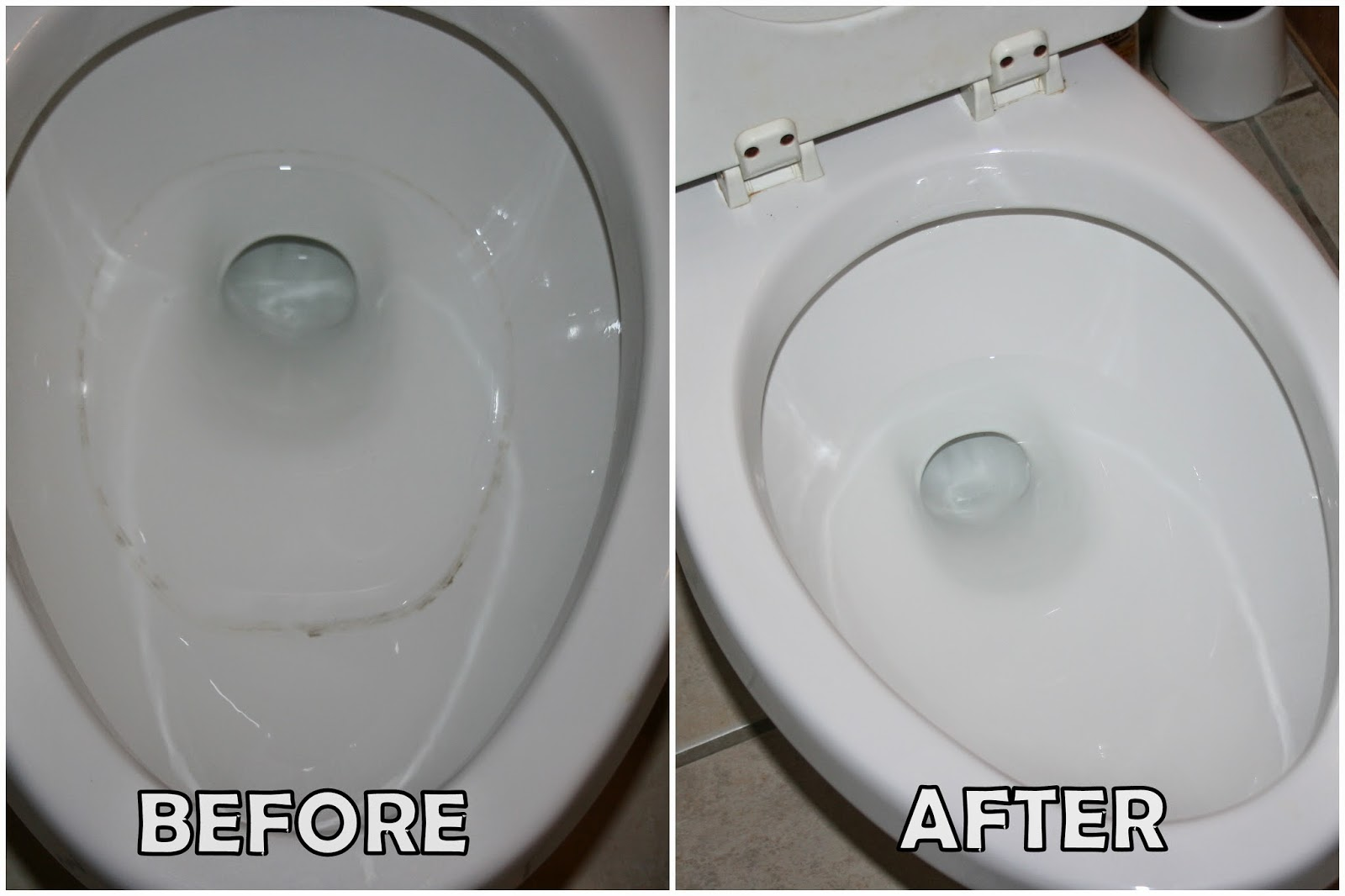 How to clean the toilet bowl from the inside of the rust
