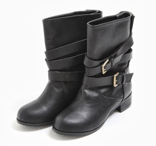 Belt Wrap Around Boots