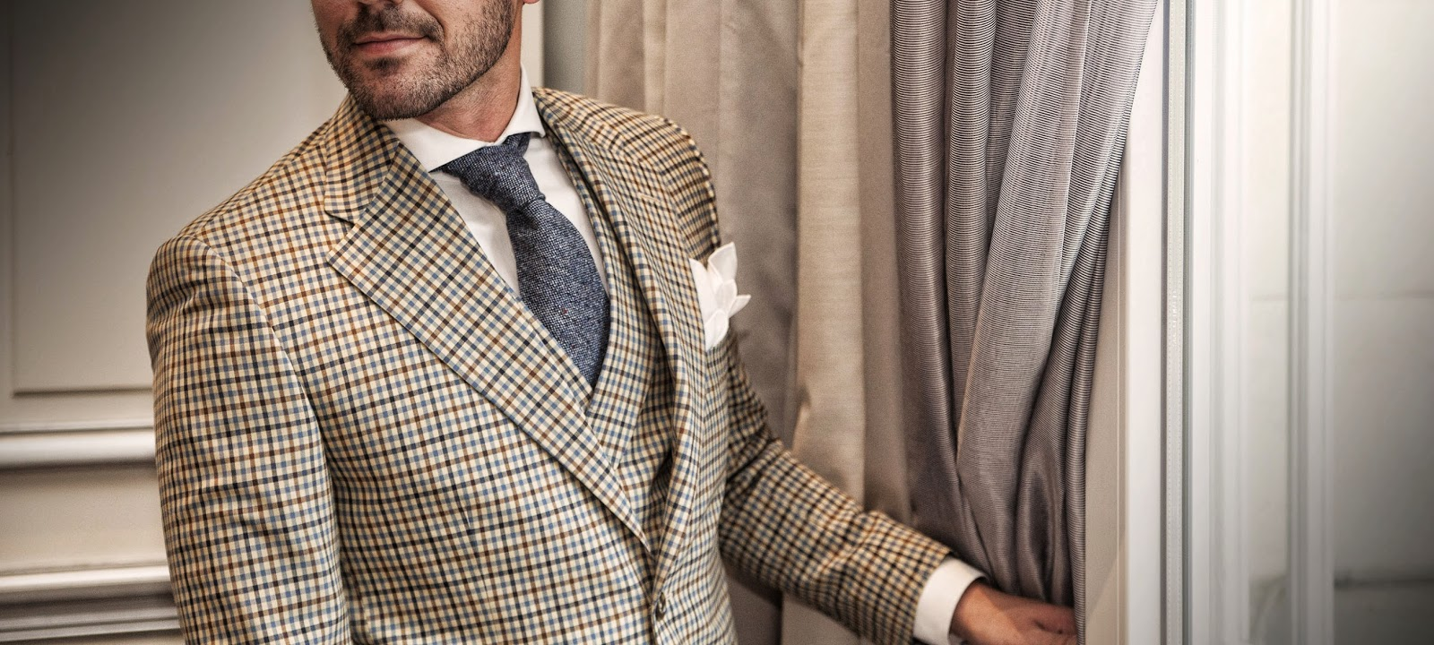 Haberdashers, Madrid, menswear, sastrería, Suits and Shirts, showroom, Fall 2014, tweed,