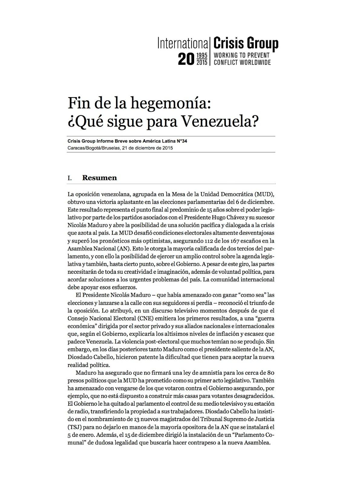 Fin de la hegemonía: ¿Qué sigue para Venezuela?