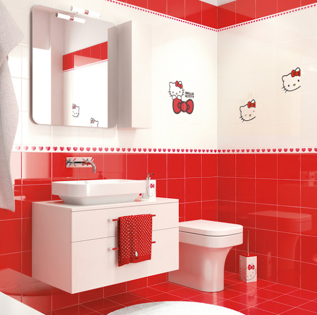 Decoracion Baño Hello Kitty:Hello Kitty Bathroom Tiles