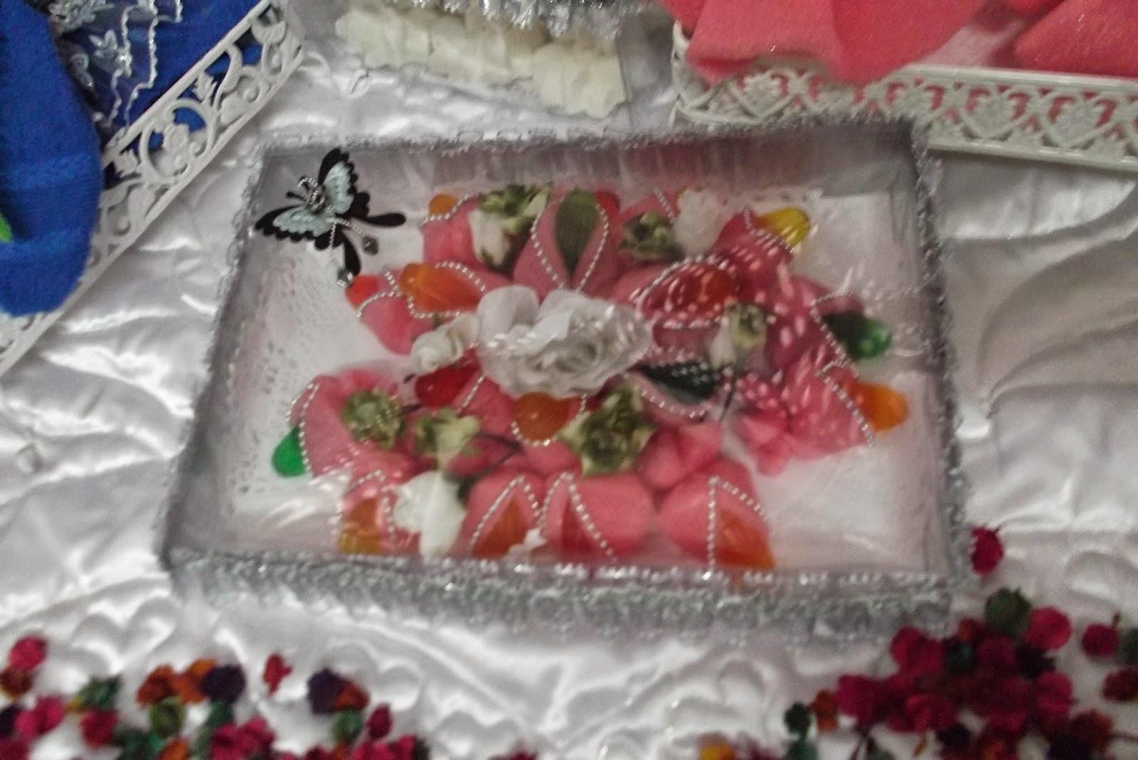 gubahan jelly berbentuk bunga