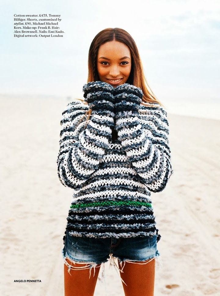 Jourdan Dunn By Angelo Pennetta For Miss Vogue April 2014