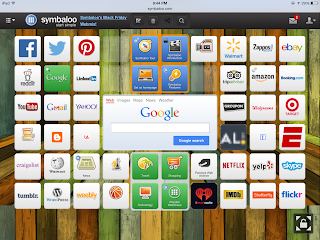 Symbaloo front page with different apps and links