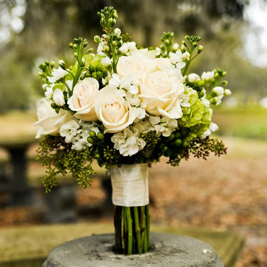 wedding 2014 color green bouquets
