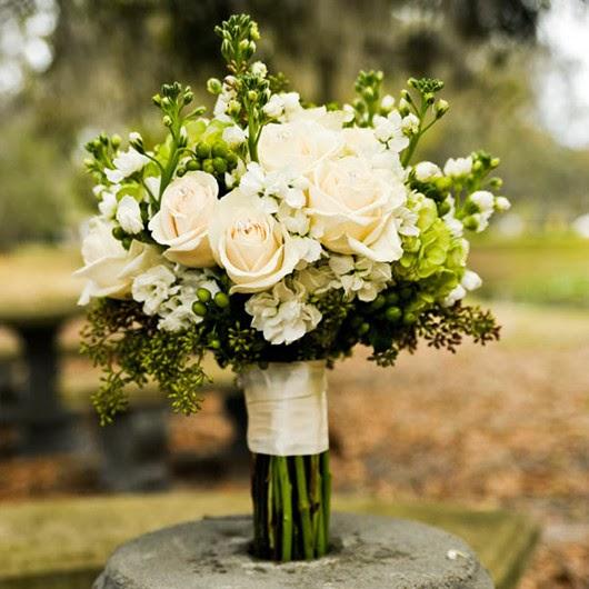wedding 2014 color green bouquets